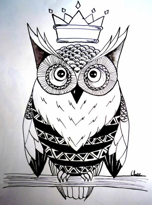 Articles de wildweirdgirl tagg s owl tattoo the lone wolf - Dessin de chouette facile ...