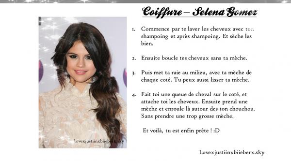 Coiffure - Selena Gomez
