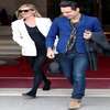 Kate Moss and Jamie Hince leaving their Paris Hotel, January 2010