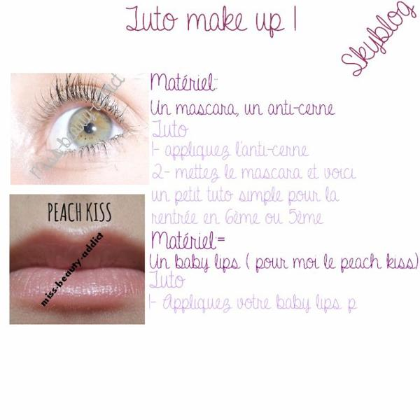 Back to school  2tutos  make up