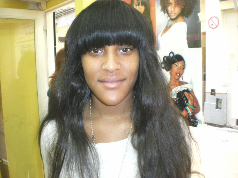Tissage Long Avec Franche Cindy Fashion Coiffure Afro Antillaise A