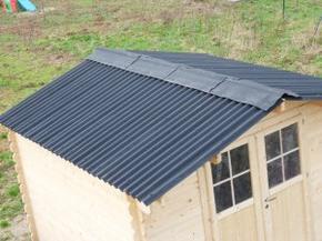 Le toit du cabanon la maison ossature bois de elo - Tole ondulee pour abri de jardin ...