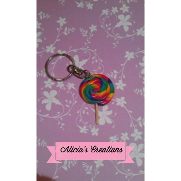Porte clé Lollipops multicolor