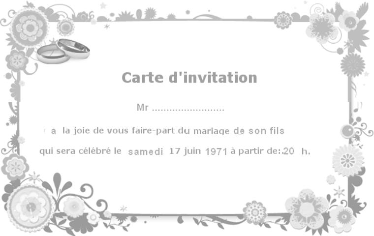 Invitation De Mariage Algerien