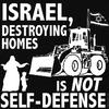 Israël détruit nos maisons ce n'est pas de l'auto-défense!!!