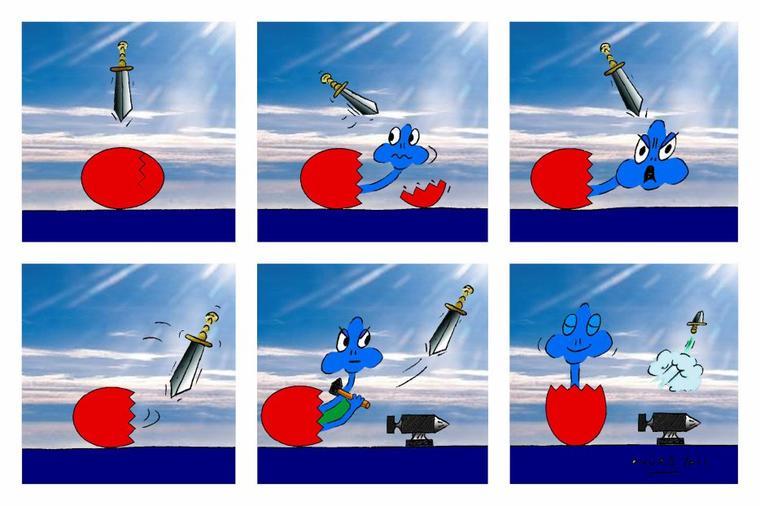 EGGY versus DAMOCLES SWORD
