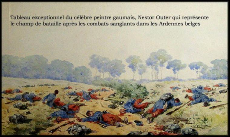 HOMMAGE AUX POILUS Aquarelle de NESTOR OUTER