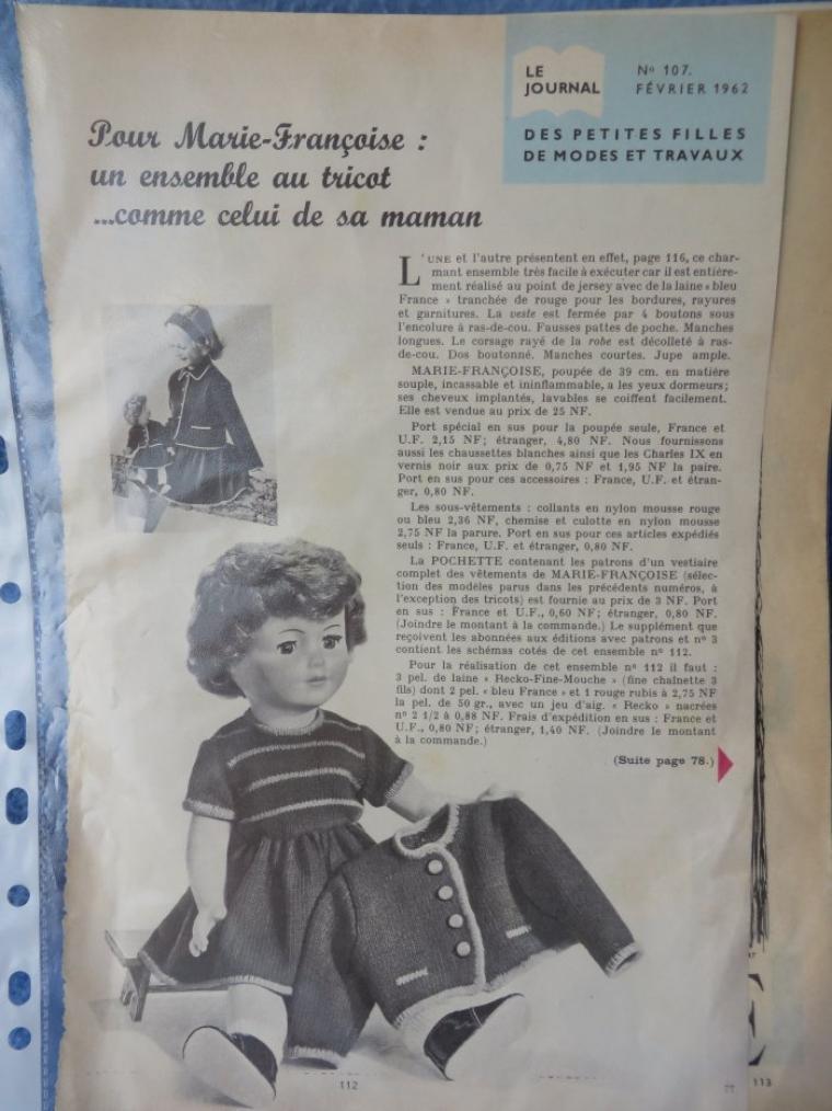 Marie-Françoise février 1962