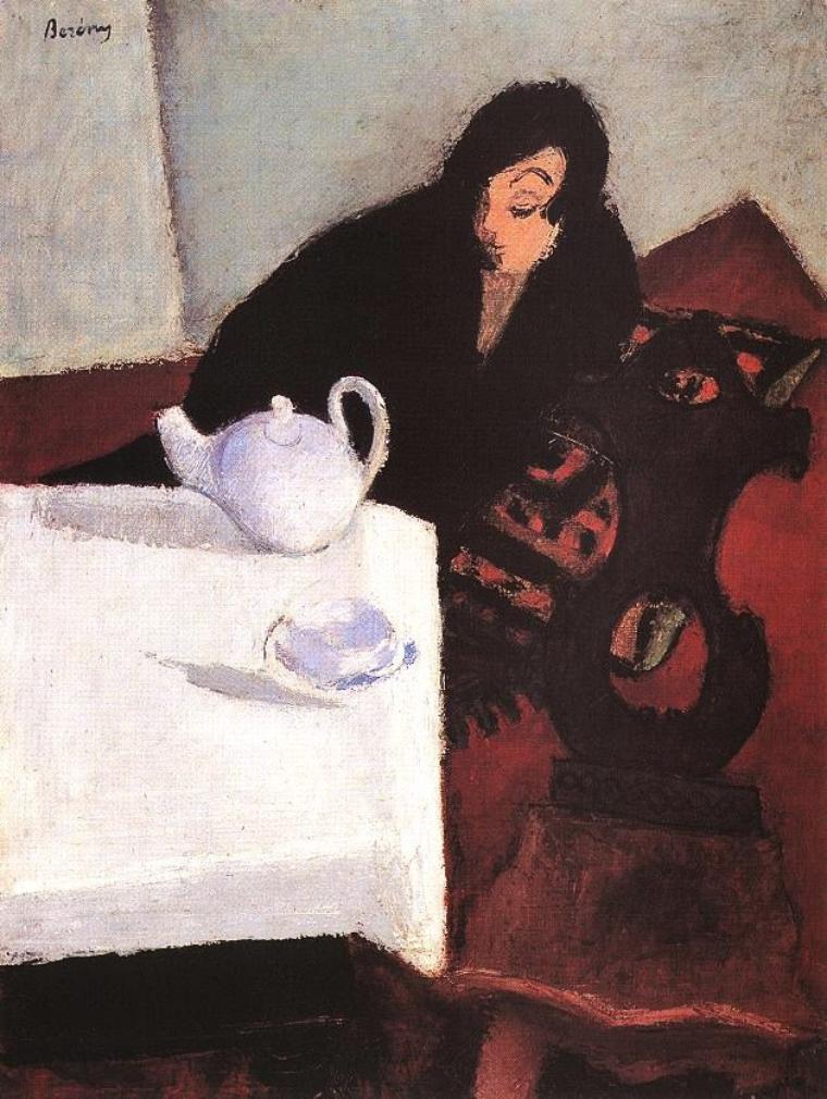 Robert Bereny (1887-1953) , woman in black (1927)