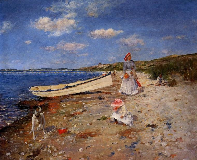METEO DU JOUR  :  William Merritt Chase , a sunny day at Shinnecock  Bay.