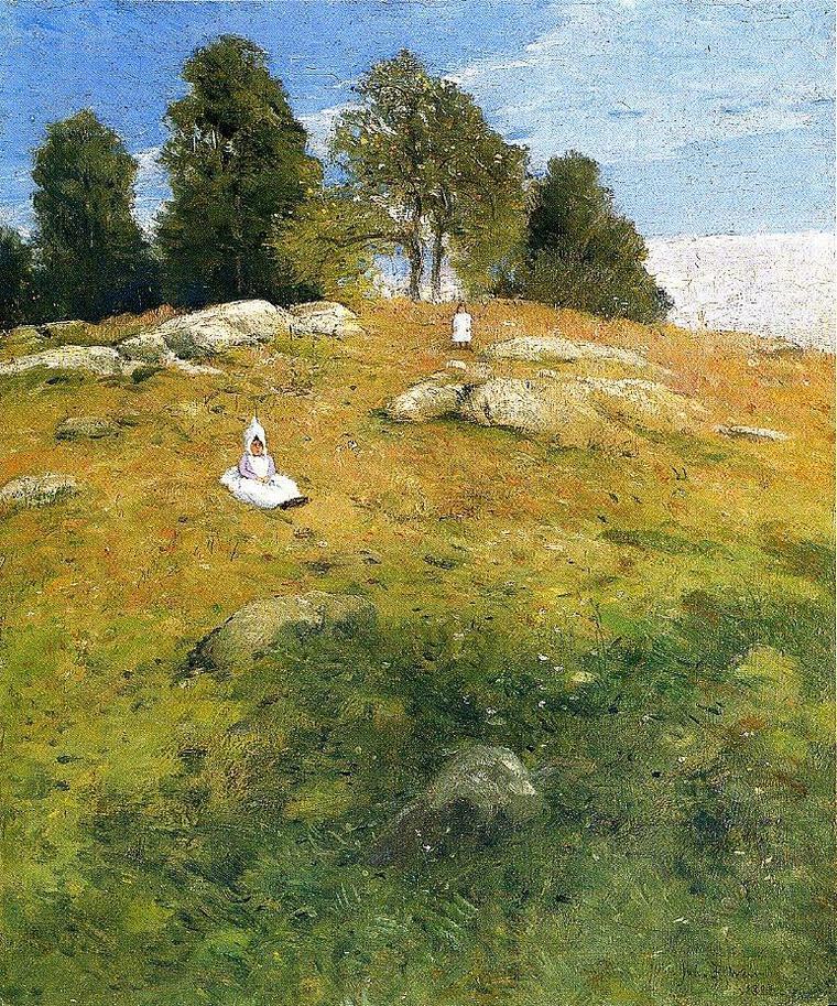 METEO DU JOUR   avec Julian Alden Weir   :  Summer afternoon  ,  Shinnecock landscape