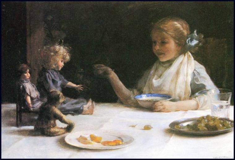 Charles Courtney Curran    (1861-1942)    :  the breakfast party