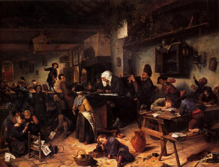 Jan Steen   (1625-1679)  :  éternel recommencement...............