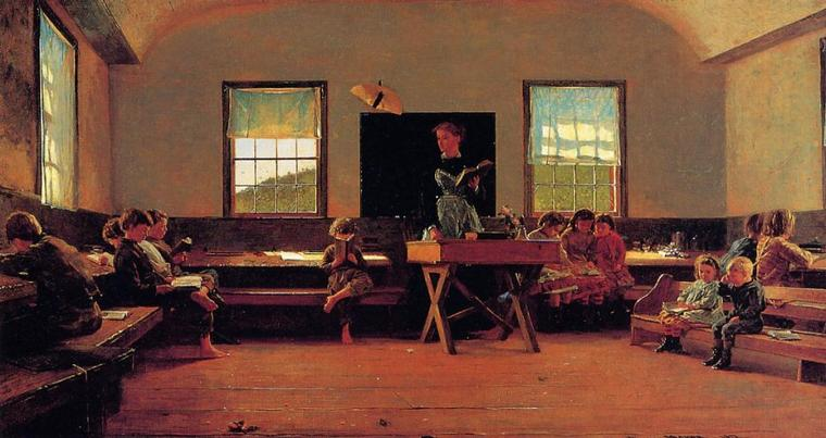Winslow Homer (1836-1910)   :   The country school  (1871)
