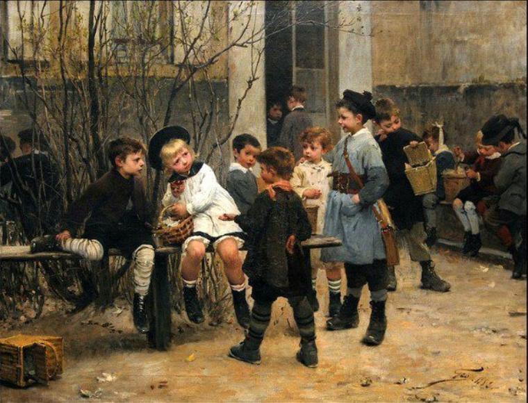 Henri Jules Jean Geoffroy  (1853-1924)    :   racket , déjà...