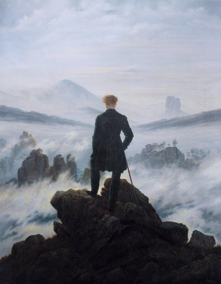 Caspar David Friedrich   (1774-1840)   ,  pour Dan, partie en randonnée...