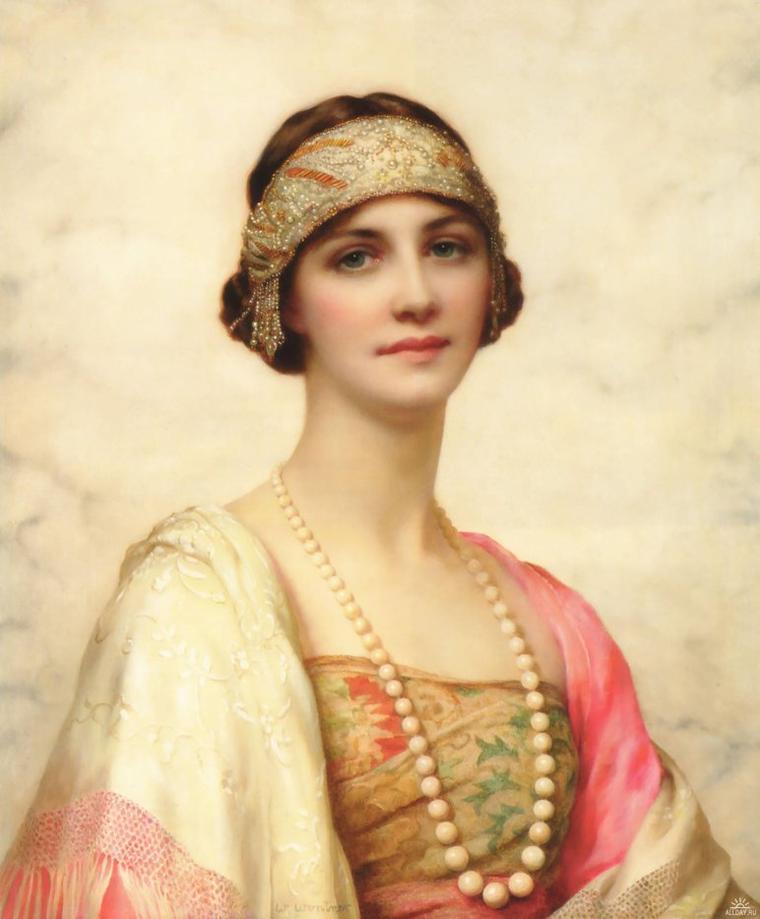 Le jeu des ressemblances...  :  Cécile de France , actrice belge  /  William Clarke Wontner (1857-1930) , portrait d'une belle élégante.