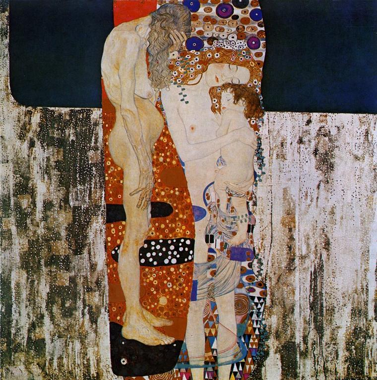 Gustav Klimt (1862-1918)   :  les trois âges de la femme  (1905)