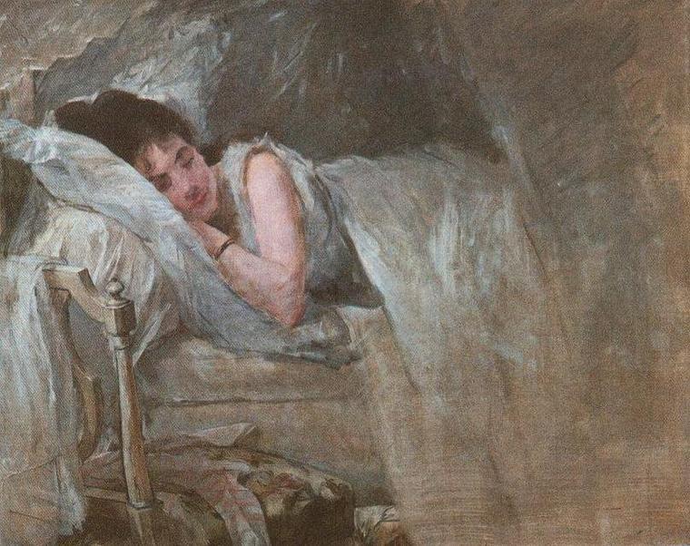 Eva Gonzales  (1849-1883)  :   le sommeil