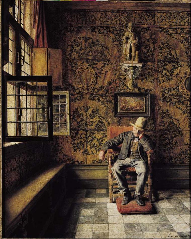 henri de braekeleer 1840 1888 2 sc nes d 39 int rieur miscellan es petits bonheurs du jour. Black Bedroom Furniture Sets. Home Design Ideas