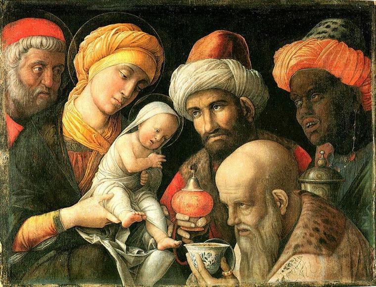 Andréa Mantegna (1431-1506)   :   Adoration des rois mages