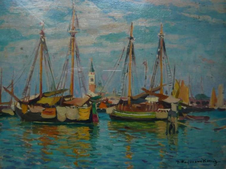 Vues de la sérénissime par 2 peintres prénommés Raymond...