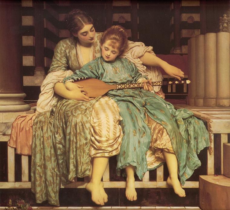 Fête de la musique   :   Frederic LEIGHTON  (1830-1896)  ,  Music Lesson  (1877)