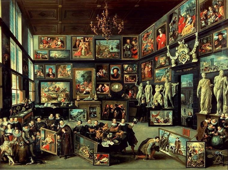 Amateurs d' art . . . (suite)    Willem  VAN  HAECHT (1590-1637)  :  la Galerie de Cornelis Van Der Geest (1628)