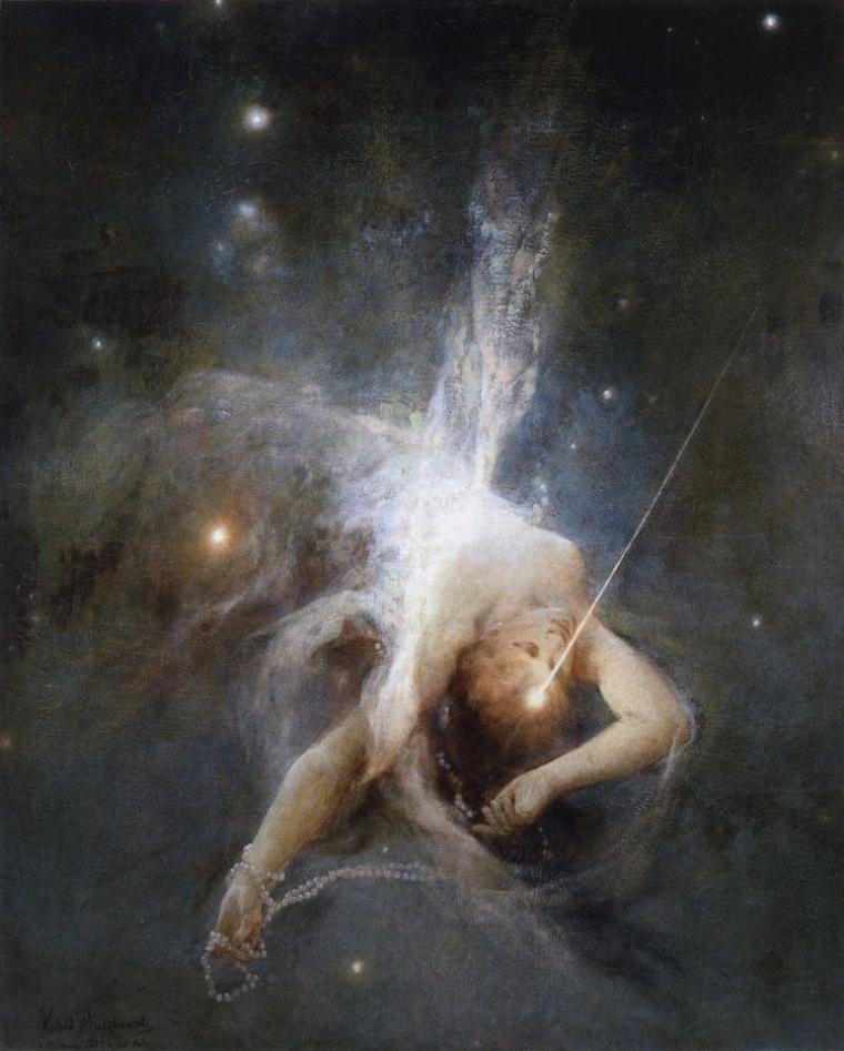 Witold Pruszkowski   (1846-1896)    :   Falling star (1884)