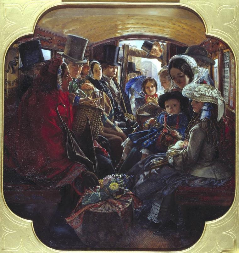 William Maw EGLEY   (1826-1916)   :  Omnibus Life in London  (1859)