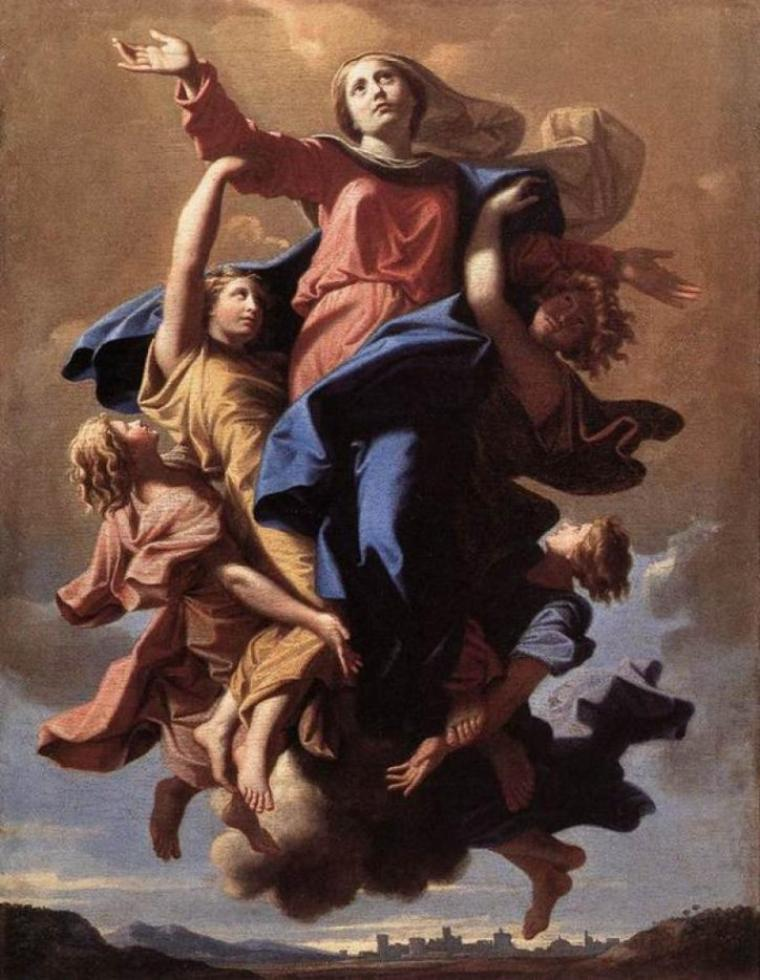 Nicolas Poussin (1594-1665)   :  l' Assomption de la Vierge  (1649)