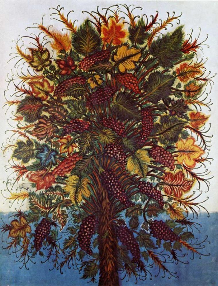 Séraphine Louis  ,  dite de Senlis    (1864-1942)   : les grappes de raisin