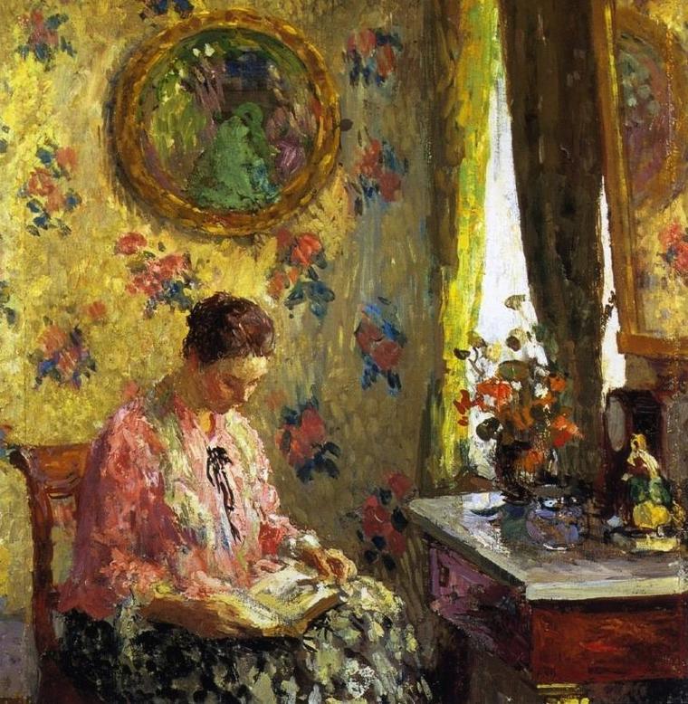 Après le thé et la promenade...  Julius Garibaldi  MELCHERS  (1860-1932)    /  1920