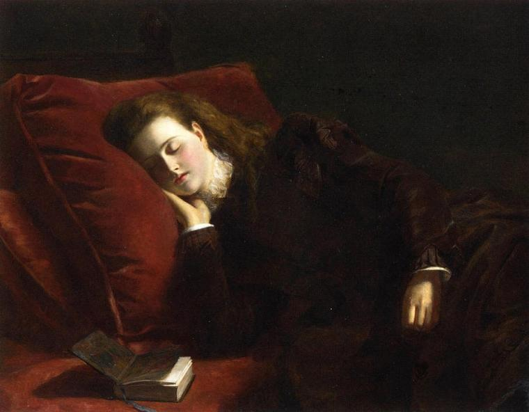 William  POWELL  FRITH  (1819-1909)    :  Sleep  (1873)