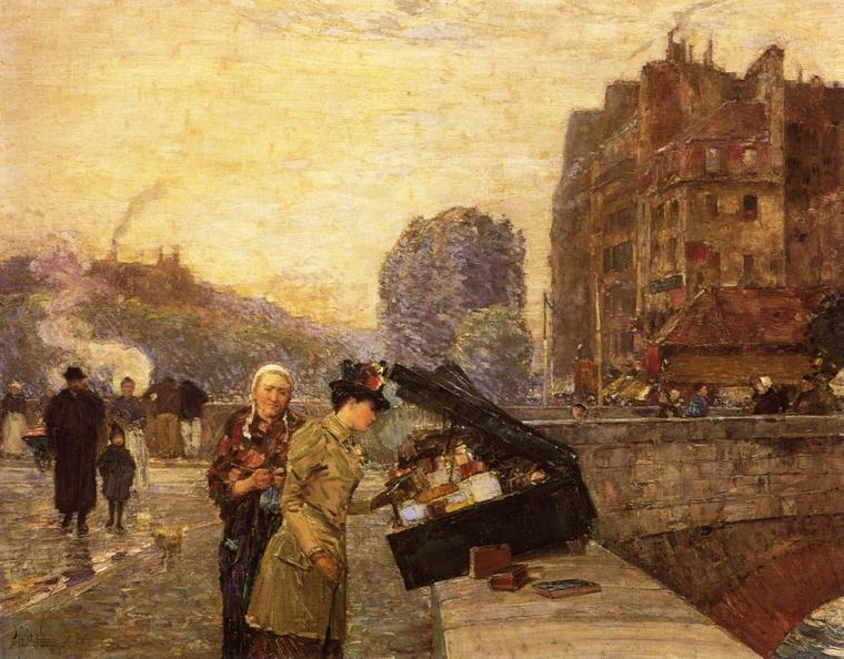 4 tableaux de Frederick  CHILDE  HASSAM  (1859-1935)