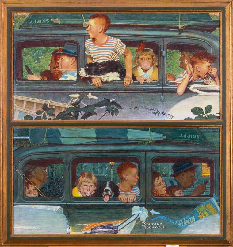 Norman  ROCKWELL  (1894-1878)    :   going and coming   (1947)