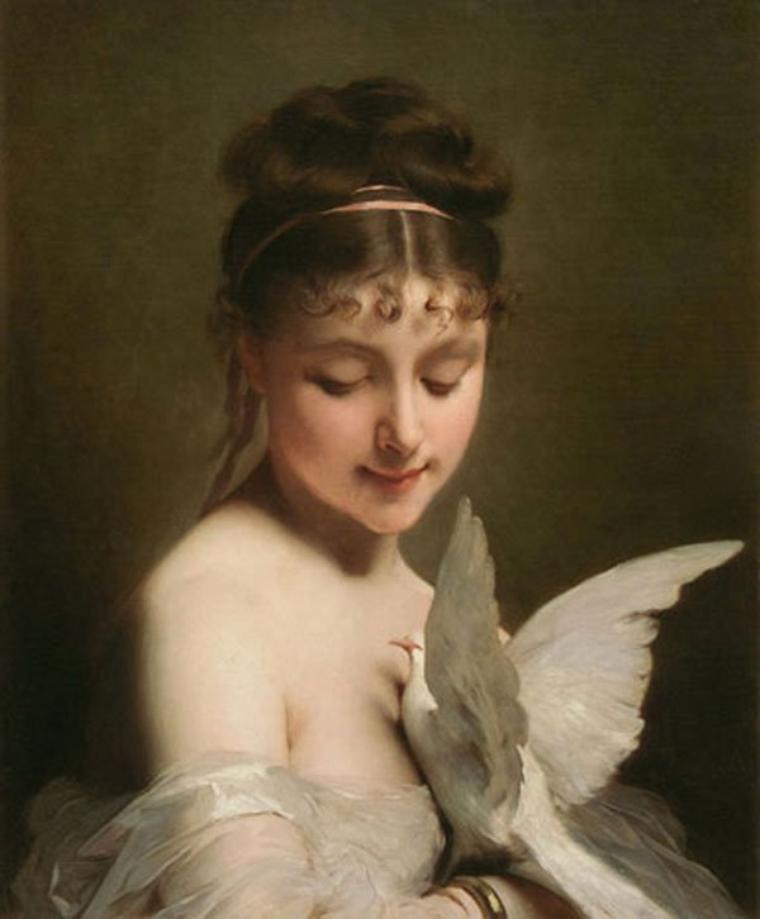 Le saint du jour..................... : Charles  CHAPLIN , peintre français d'origine anglaise