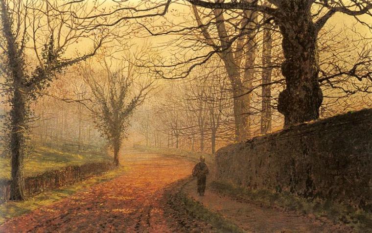 2 tableaux de John Atkinson  GRIMSHAW  , époque victorienne  (1836-1893)