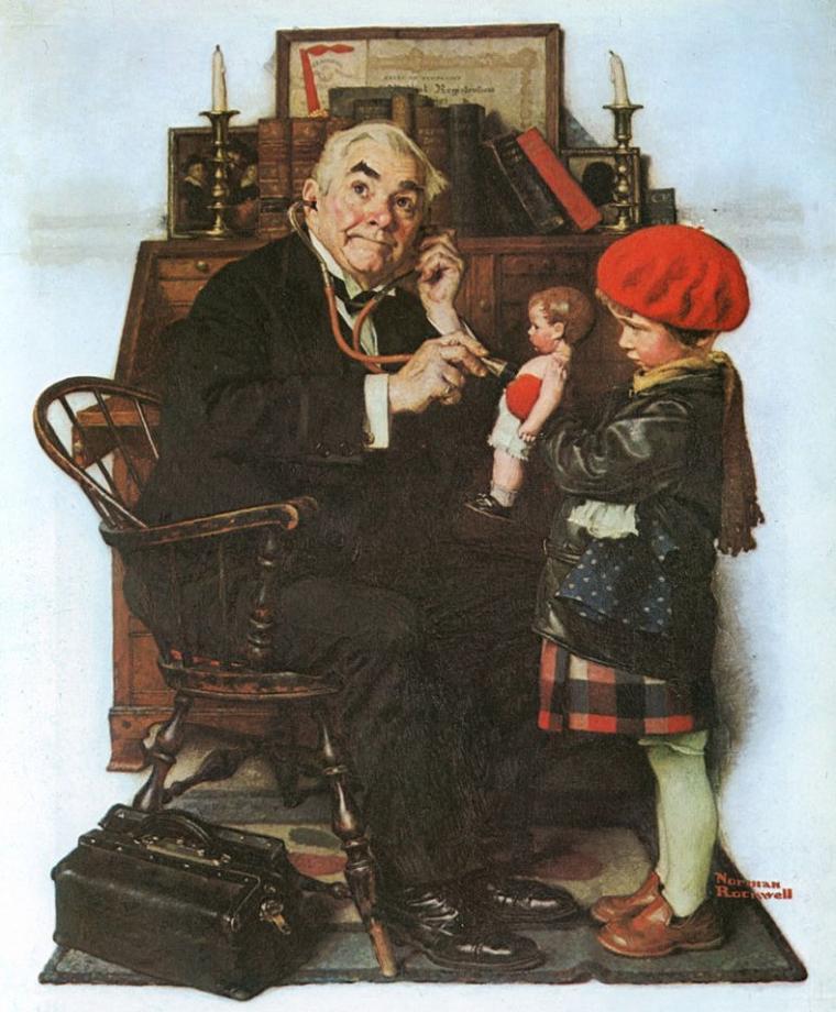 Norman  ROCKWELL  (1894-1878), Helnwein child ,   pour KINOUKLIC ...  :  METEO DU JOUR... il commence à faire un peu frisquet le matin...