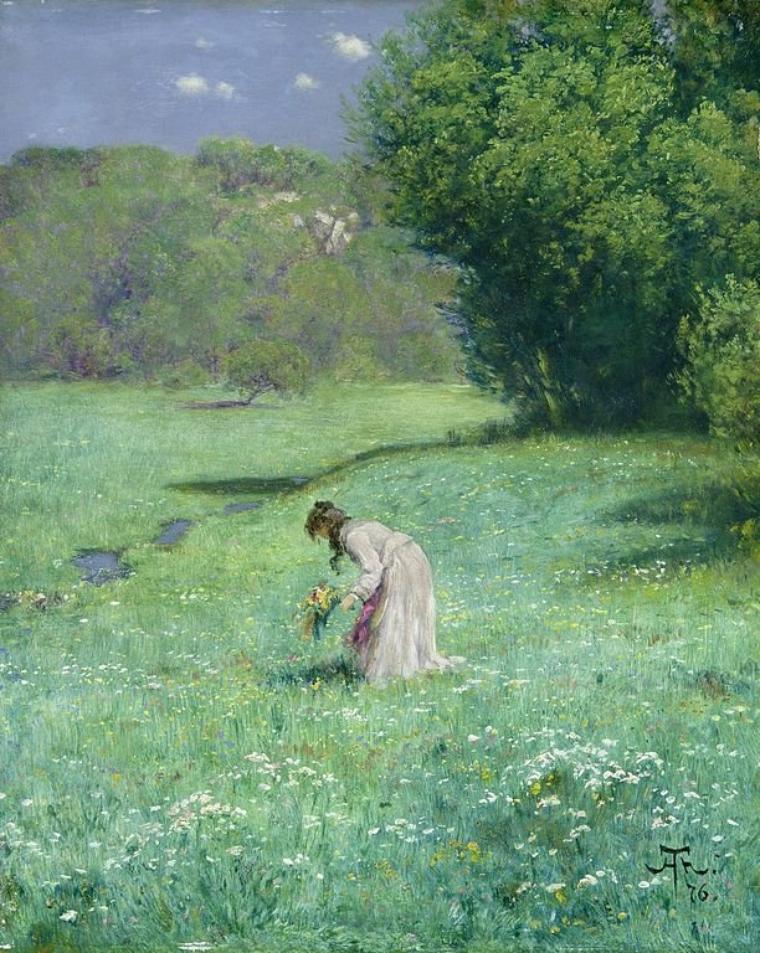 METEO DU JOUR... avec Piet  MONDRIAAN  (1872-1944)  : ferme dans un paysage de prairie près de Duivendrecht, 1905 (premiers tableaux du peintre)