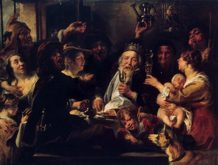 Epiphanie   :   Jacob  JORDAENS  (1593-1678)