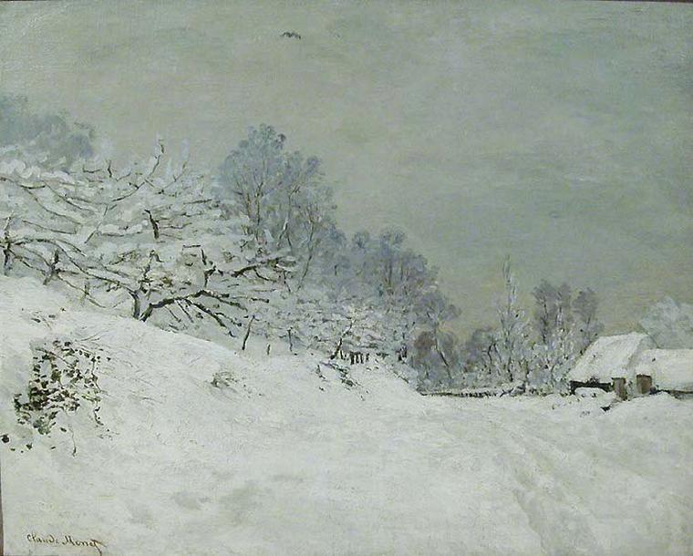 Météo du jour....  Alfred  SISLEY  , neige à Louveciennes   /  Claude  MONET