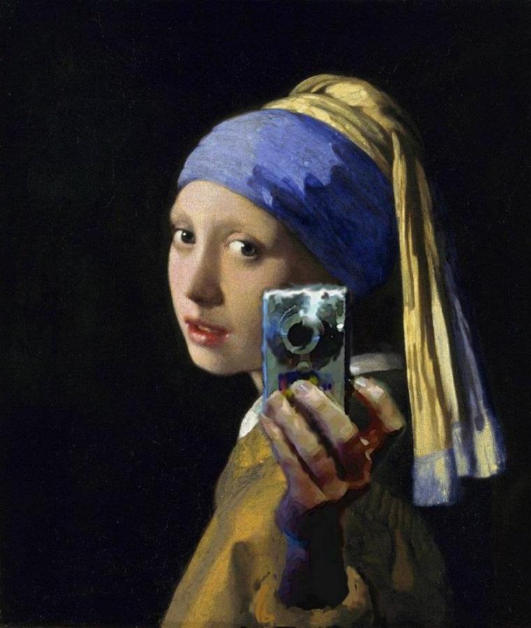 Détournement de Vermeer de Delft...   :-)