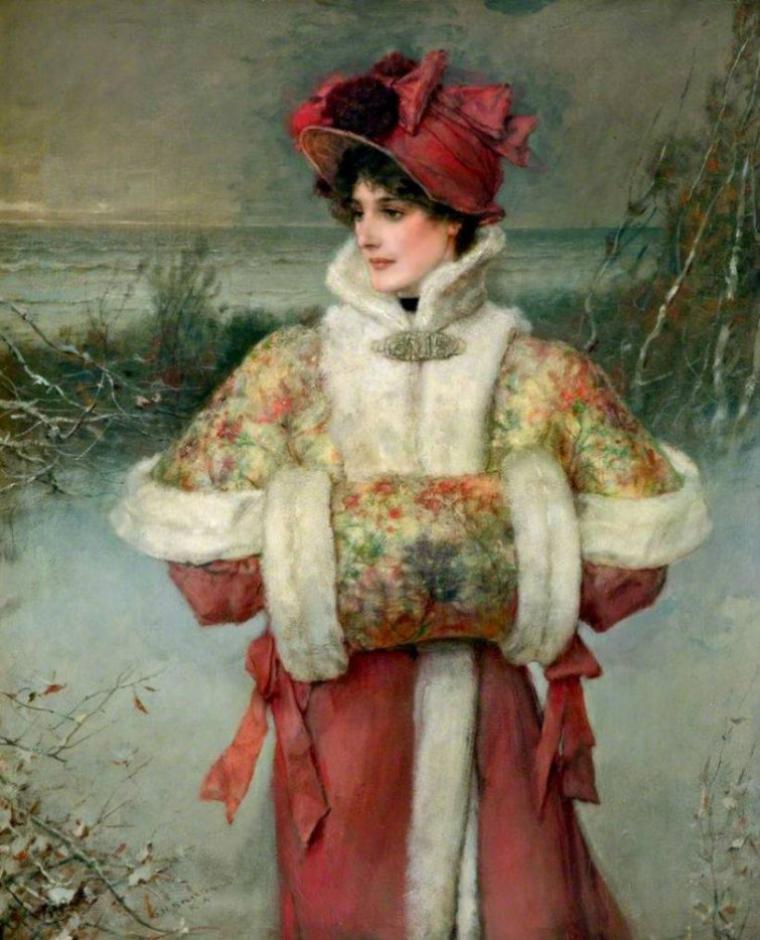 Météo du jour....  George Henry BOUGHTON   (1833-1905)  , un très beau tableau trouvé chez Kenza  (Thé au jasmin)