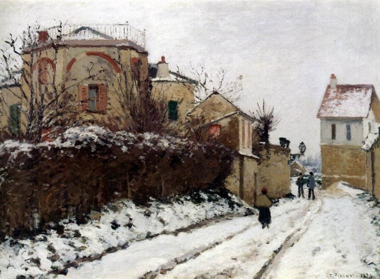 Camille PISSARRO ((1830-1903)  ,  Quand on croit que c'est fini...
