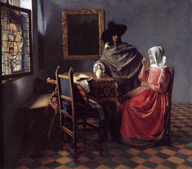 EXERCICE  PHYSIQUE ...   /   Johannes  VERMEER   (1632-1675)