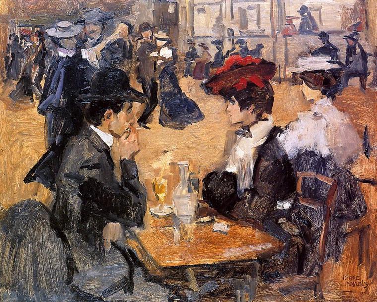 COUPS  DE  COEUR  ... : Isaac  ISRAEL (1865-1934) ,  peintre impressionniste hollandais ayant fréquenté Monet et Renoir...