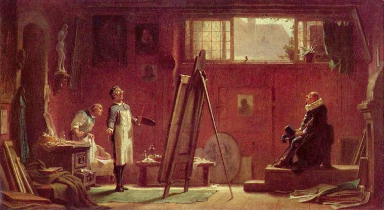 2 tableaux de Carl  SPITZWEG  (1808-1885)