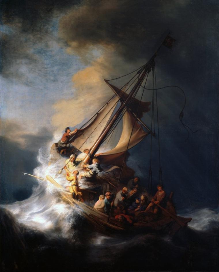 REMBRANDT  (1606-1669)  /   Le Christ dans la tempête sur le lac de Galilée