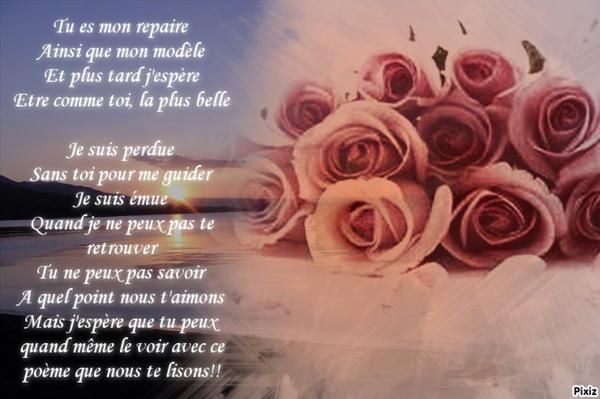 Extrait De Poème écrit Par Moi Et Ma Soeur Pour Notre Maman